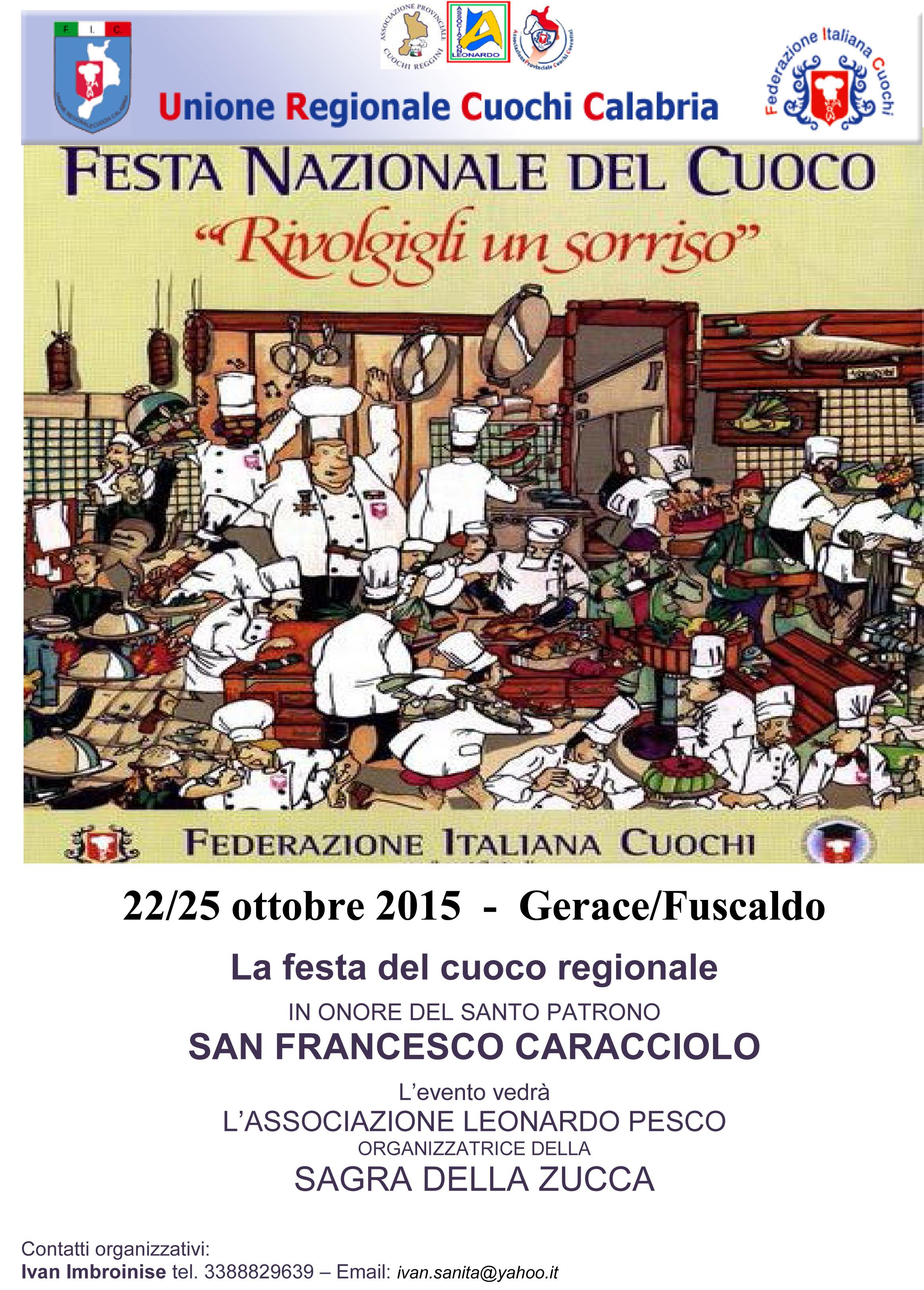 PROGRAMMA FESTA DEL CUOCO 2011 - TAVERNA